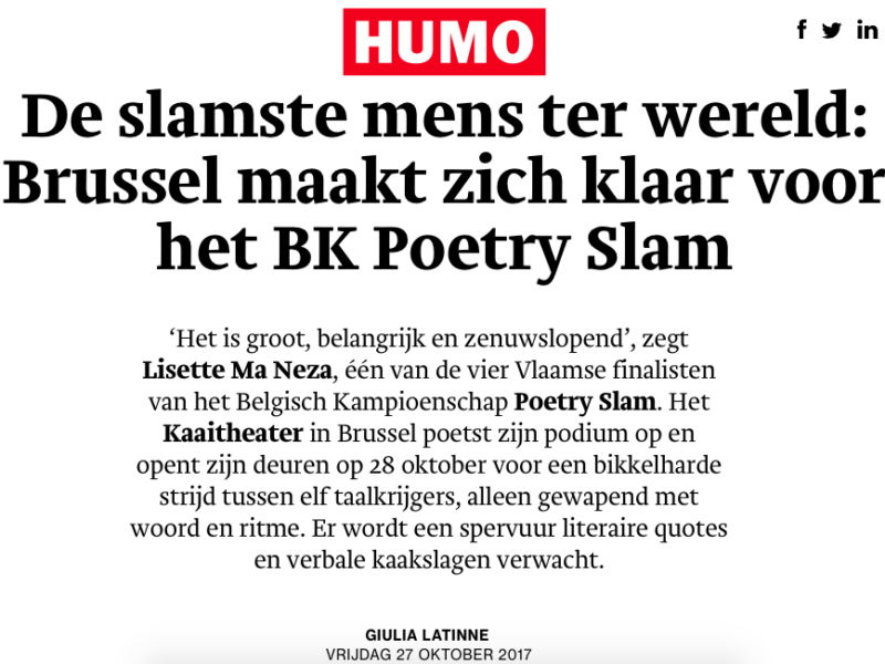 Interview Humo online